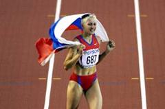 Triple Jump Final - Tatyana Lebedeva (© Allsport)