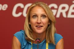 Paula Radcliffe at the IAAF World Athletics Forum (Getty Images)