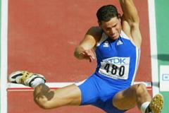 Laurent Hernu in the decathlon's long jump (Getty Images)