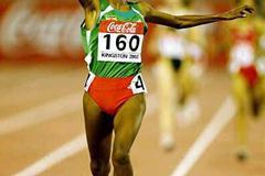 Meseret Defar (Ethiopia) - double World Junior Champion in Kingston (Getty Images)