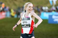 Gemma Steel wins the women's race at the Bupa Great Edinburgh Cross Country (Getty Images)