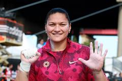 Valerie Adams at the 2014 IAAF Diamond League meeting in New York (Victah Sailer)