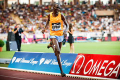 Asbel Kiprop wins the 1500m at the IAAF Diamond League meeting in Monaco (Philippe Fitte)