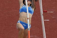 Elena Scarpellini of Italy in the women's Pole Vault (Getty Images)
