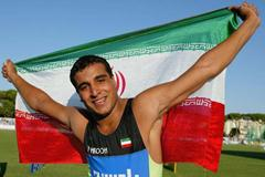 Ehsan Hadadi of Iran celebrates his Discus Final victory (Getty Images)