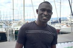 David Rudisha ahead of the 2015 IAAF Diamond League meeting in Lausanne (Olaf Brockmann)