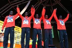 The Kenyan men defend their World Half Marathon Championship team title (Getty Images)