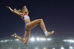 Darya Klishina in Daegu (Getty Images)