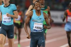 Mohammed Aman winning over 800m at the IAAF Diamond League meeting in Rome  (Giancarlo Colombo)