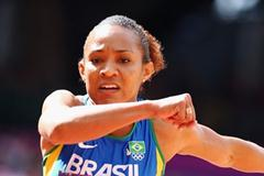 Keila Costa of Brazil competes in the Women's Triple Jump qualification on Day 7 of the London 2012 Olympic Games at Olympic Stadium on August 3, 2012 (Getty Images)