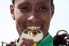 Gelete Burka of Ethiopia tastes short  race gold (Getty Images)