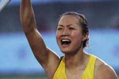 Zhou Yang, the winner of the 2006 World Junior Pole Vault title in Beijing (Getty Images)