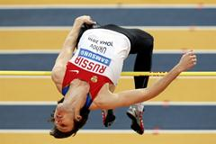 Ivan Ukhov of Russia competes in the men's high jump in Doha (Getty Images)