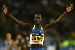 Pamela Jelimo of Kenya celebrates victory in the women's 800m (Getty Images)