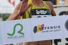 Portugal's Ana Dulce Felix wins the 2009 Roeselare XC (Nadia Verhoft)