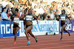 Murielle Ahoure takes the 200m in Oslo (Mark Shearman)