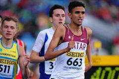 Hamza Driouch of Qatar competes in the boys 800m qualification day One - WYC Lille 6 July 2011 (Getty Images)
