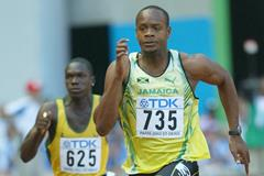 Asafa Powell at the 2003 IAAF World Championships (Getty Images)