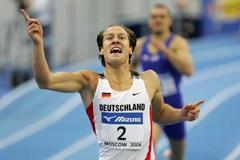 Andre Niklaus of Germany celebrates winning the 1000m discipline of the men's heptathlon and winning the gold medal overall (Getty Images)