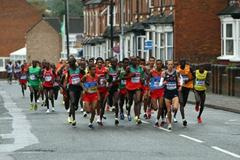 The men's lead group during the early stages in Birmingham (Getty Images)