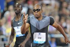 Walter Dix storms home in the 200m at the 2012 Samsung Diamond League in Doha (Jiro Mochizuki)