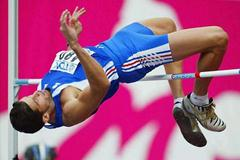 Laurent Hernu (FRA) High Jumps in the World Decathlon in Paris (Getty Images)