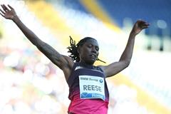 Brittney Reese at the 2013 IAAF Diamond League in Rome (Giancarlo Colombo)