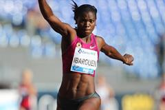 Caterine Ibarguen extends her winning streak in the triple jump at the IAAF Diamond League meeting in Rome (Gladys Chai von der Laage)