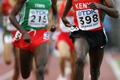Josphat Mitunga Kithii of Kenya in the 1500m heat (Getty Images)