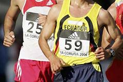 Tunisia's Hatem Ghoula tracks Jefferson Perez of Ecuador (Getty Images)