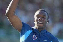 LaShawn Merritt of USA celebrates New Junior World Record in the 4x100m Relay Final (Getty Images)