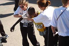 Yuda after the finish (IAAF)