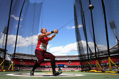 Germany's Betty Heidler in the hammer (Getty Images)