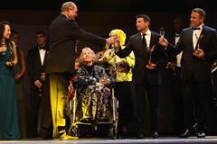 Inaugural IAAF Hall of Fame members and 2012 IAAF award winners at the IAAF Centenary Gala in Barcelona (Giancarlo Colombo)