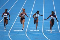 Jeneba Tarmoh of USA wins the Women's 100m final (Getty Images)