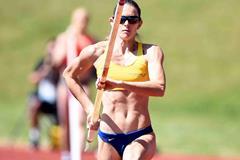 Fabiana Murer at the 2015 IAAF Diamond League in Birmingham (Jean-Pierre Durand)