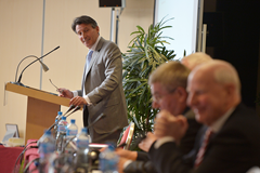 IAAF President Seb Coe at the European Athletics Convention in Lausanne (Getty Images)