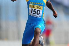 Bronze Medalist Lathone Collie-Minns of Bahamas in action during the Boys Triple jump final - Day Four - WYC Lille 2011 (Getty Images)