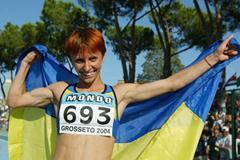 Nelya Neporadna of Ukraine wins the Women's 1500m Final (Getty Images)
