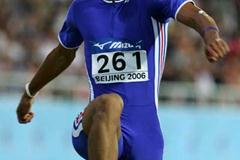 Benjamin Compaore of France on his way to gold in the men's Triple Jump final (Getty Images)