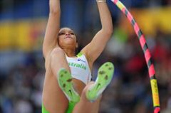 Paris McCATHRION of Australia in action in the Girls Pole Vault final - Day Four - WYC Lille 2011 (Getty Images)