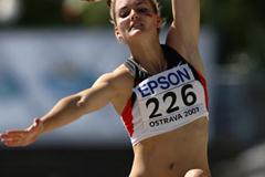 Elisa-Sophie Dobel of Germany during the Heptathlon Long Jump (Getty Images)