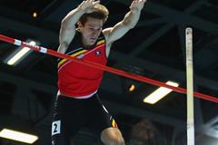 Thomas Van Der Plaetsen in the heptathlon pole vault at the 2014 IAAF World Indoor Championships in Sopot (Getty Images)