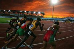 Athletes during the men's 5000m final (Getty Images)