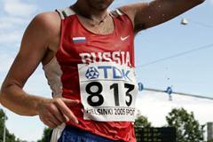 Sergey Kirdyapkin of Russia in the 50km Race Walk in Helsinki in 2005 (Getty Images)