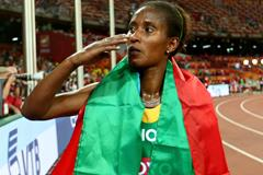 Gelete Burka after the 10,000m at the IAAF World Championships, Beijing 2015 (Getty Images)