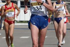 Ludmila Arkhipova of Russia in action in the Women's 20km race (Getty Images)