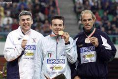 Lisbon 2001 men's triple jump (© Allsport)