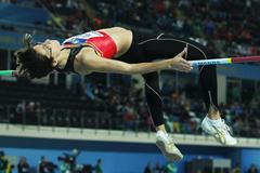 Tia Hellebaut of Belgium competes in the Women's High Jump qualification during day one -WIC Istanbul (Getty Images)