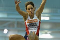 Katarina Johnson-Thompson at the 2014 British Indoor Championships in Sheffield (Getty Images)